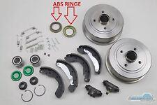 Bremsenset hinten Opel Corsa C  Bremstrommeln Radlager Radbremszylinder ABS-Ring