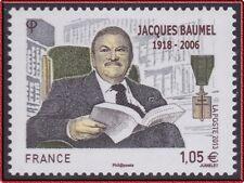 2013 FRANCE N°4754** Jacques Baumel Compagnon Libération (RESISTANCE) MNH