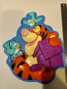 Fisher Price Tigger with Bluebirds Plastic 3D Tray Puzzle - Winnie-The-Pooh