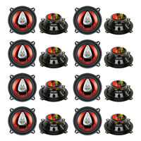"Boss CH5530 5.25"" 3-Way 225W Car Audio Coaxial Speakers Stereo, Red (16 Pack)"