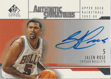 Jalen Rose 2004 UD SP Signature Edition autograph auto card AS-RO