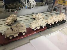 N Scale modern Military Army  4 Wheel MRAP  six pack unpainted