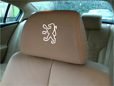 PEUGEOT LOGO CAR SEAT / HEADREST  - BADGE - Vinyl Stickers - Graphics X5