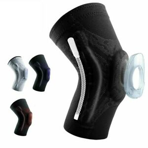 Knee Compression Support Sleeve With Silicone Pad And Spring Legs Elastic Pads