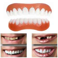 1Pair Perfect Cosmetic Teeth Snap On Secure Upper Lower Flex Dental Veneers