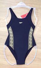 GIRLS BLACK SPEEDO SWIMMING COSTUME Endurance School Swim Suit Junior Age 6