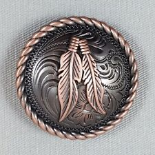 Round Rope Edge Feather Conchos CON1000HAC