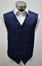 Men's Adjustable Patterned Navy Wedding Formal Suit Vest