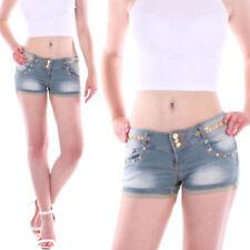 Pantalones cortos de mujer minishorts color principal azul vaquero