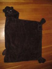 L L Bean fleece hooded brown BEAR BLANKET cozy kids baby robe coat vtg hoodie ll