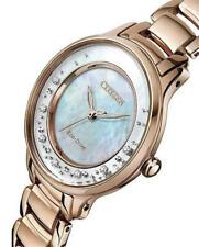 EM0382-51D,CITIZEN Eco-Drive Watch,Diamonds,MotherOfPearlDial,Sapphire,WR50,Lady