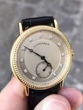 Longines EXQUISITE 18K Gold & 11 Diamonds Watch, NEW Luxurious Wooden Case
