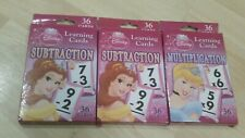 DISNEY PRINCESS LEARNING FLASH CARDS: Multiplication Subtraction Bundle, Age 3+