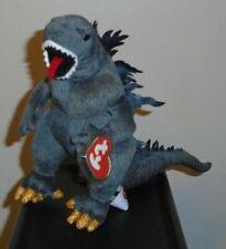 Ty Classic Plush Godzilla Japan 2001 With White Eyes MINT