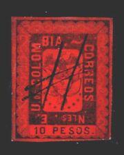 Vintage: Colombia 1866 Usd,Lhr Scott # 52 $ 200 Lot # Col1866B53