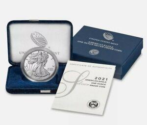💥 Presale - 2021-W Proof $1 American Silver Eagle Box OGP & COA  Est Ship 3/01