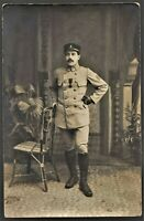 CONDECORATED SERGEANT WW1 WAR MEDAL RECIPIENT RPPC ANTIQUE PHOTO POSTCARD