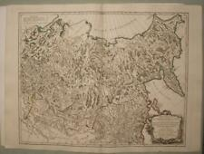 EASTERN RUSSIA SIBERIA CHINA MONGOLIA 1750 VAUGONDY ANTIQUE COPPER ENGRAVED MAP
