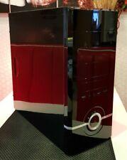 PC-GEHÄUSE ATX Midi-Tower MS-Tech (ohne Netzteil) schwarz Klavierlack **Design**