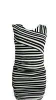 H & M Mama Maternity Dress Size S Black and White Striped