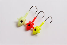 20PCS soft lure Painted Jig Heads Fishing Hooks Lures Bait 7g/14g/21g/28g/45g