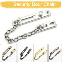 Strong Security Door Chain+Screws Solid stainless steel Safety Guard Lock Catch