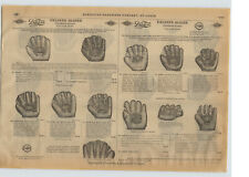 1915 PAPER AD Diamond Brand Duk Fut Duck Foot Webbed Webb Baseball Glove