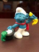 Vintage 1979 MAGICIAN SMURF pvc Figure Figurine Toy Peyo Schleich