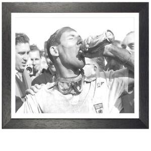 Stirling Moss Framed Signed Photo
