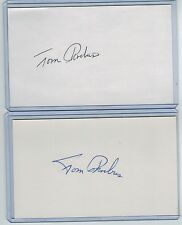 (2) TOM PHOEBUS INDEX CARD SIGNED 1970 WS CHAMPS BALT ORIOLES PSA/DNA CERTIFIED