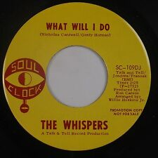 THE WHISPERS: What Will I Do USA Soul Clock NORTHERN DJ Promo NM 45 Hear
