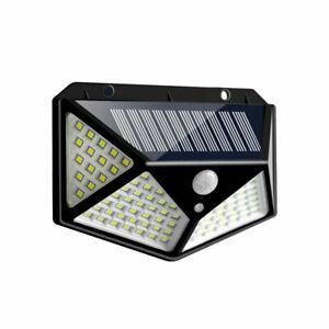 2X 100LED Solarleuchte Solarlampe Bewegungsmelder Außen Fluter Sensor Strahler