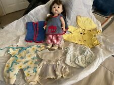 New ListingVintage 1950s R&B Littlest Angel Hard Plastic Bent Knee Walker Doll W/ Clothing