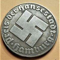 WW2 GERMAN COMMEMORATIVE COLLECTORS COIN REICHSMARK HAMBURG
