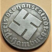 WW2 GERMAN COMMEMORATIVE COLLECTORS COIN REICHSMARK HAMBURG