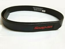 NEW Snap On Tools Men's Genuine Leather No-Scratch Black Work Belt Hook & Loop