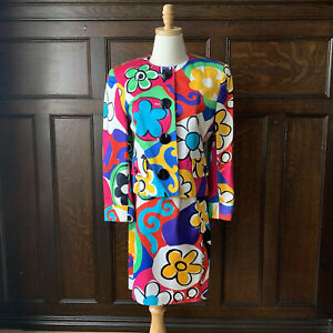 Escada Floral Suit Jacket and Skirt Set - Size 36