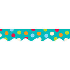 Dots On Turquoise Wavy Border