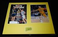 Jason Kidd Signed Framed 16x20 Photo Display Cal Bears