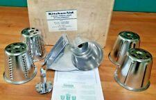 "Vintage KitchenAid Hobart Rotor Slicer Shredder ""RVS"" All Metal, RARE, NOS BOX"