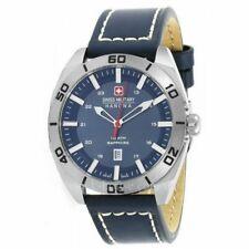 Swiss Military Hanowa Champ 6-4282.04.003 Men's Blue Leather Strap Watch