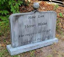 HENRY BLAKE  Halloween Tombstone Yard Prop Cemetery Graveyard Horror Myers Jason