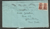 South Africa 1943 WWII no censor cover Capetown to NY/spend less/save more
