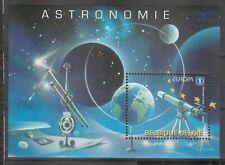 s37991 BELGIUM EUROPA CEPT MNH** 2009 S/S BF SPACE ASTRONOMIA