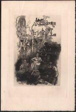 Auguste Lepère.  La Bièvre et le quartier Saint-Severin. Eau-forte. 1901