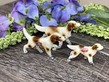 Springer Spaniel ~ Set Of 3 Vintage Miniature Bone China Dog Figurines Japan