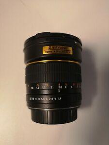 samyang 85mm f/1.4 Aspherical IF manual focus lens for Canon EF in original box