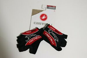 NEW Castelli Rosso Corsa Classic Cycling Gloves Men's Small Black Red