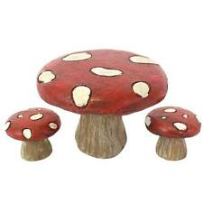Forest Fairies Range - Beautiful Toadstool Tables and Chairs for Fairy Gardens