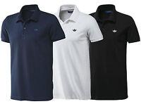 New Mens Adidas Originals Pique Polo Shirt T-Shirt - Navy Blue Grey White Black